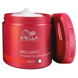 Wella Brilliance Coarse Mask, pakoló vastagszálú hajra 150 ml