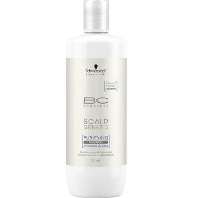Schwarzkopf Bonacure Scalp Genesis Mélytisztító hajsampon (Purify) 1000 ml